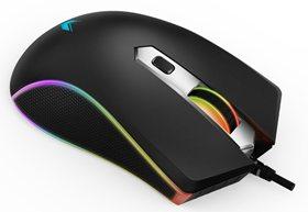 千变万幻-雷柏V29S幻彩RGB电竞游戏鼠标磨砂黑上市