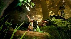 VR探索解谜游戏《Moss》在古遗址里面对神秘生物